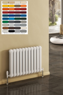 REINA Coneva Column Radiator - Horizontal RAL Colours