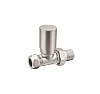 Portland Brushed Radiator Valves - Pair