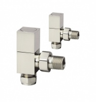 Richmond Brushed Radiator Valves - Pair