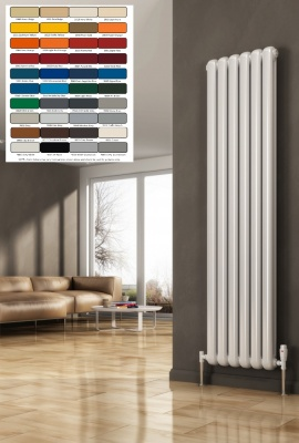 REINA Coneva Column Radiator - Vertical RAL Colours