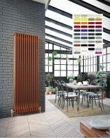 DQ Peta 3 Column Radiator - RAL Coloured