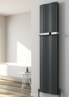 REINA Wave Aluminium Radiator - Towel Bar
